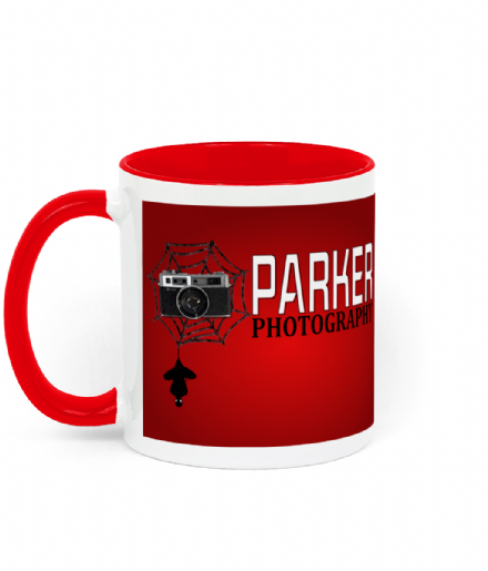 Parker Photography Two Toned Ceramic Mug Inspired by Spider-Man